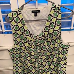 Lands End patterned sleeveless top Size L (14-16)